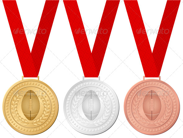 Medals Football - Sports/Activity Conceptual