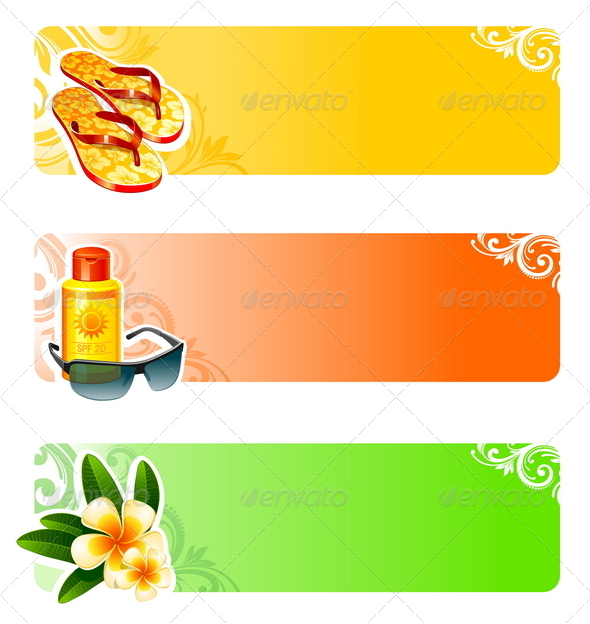 Rest and Travel Vector Banners - Travel Conceptual