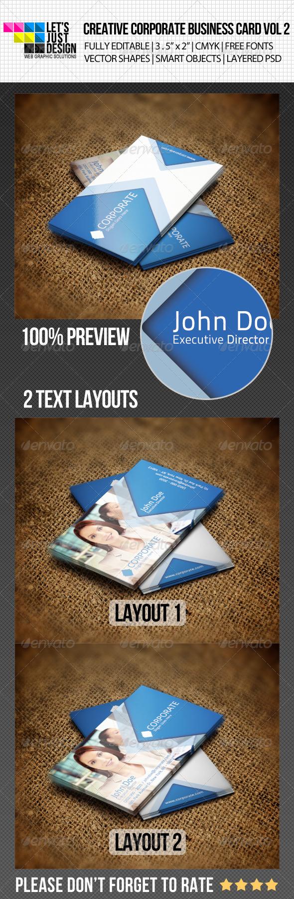 Creative Corporate Business Card Vol 2 - Corporate Business Cards