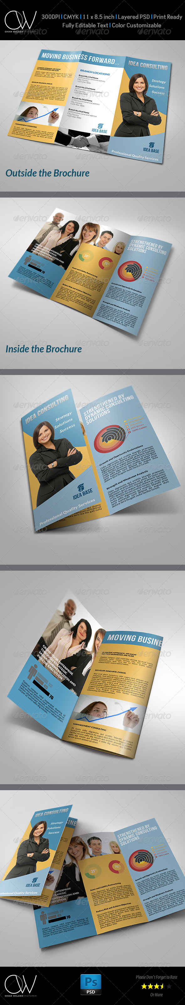 Corporate Business Tri-Fold Brochure - Brochures Print Templates