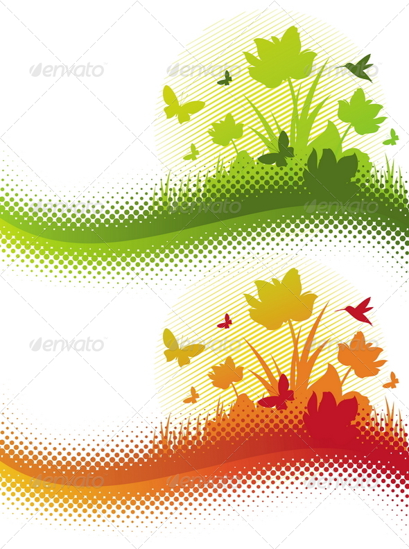 Abstract Summer Illustration - Nature Conceptual