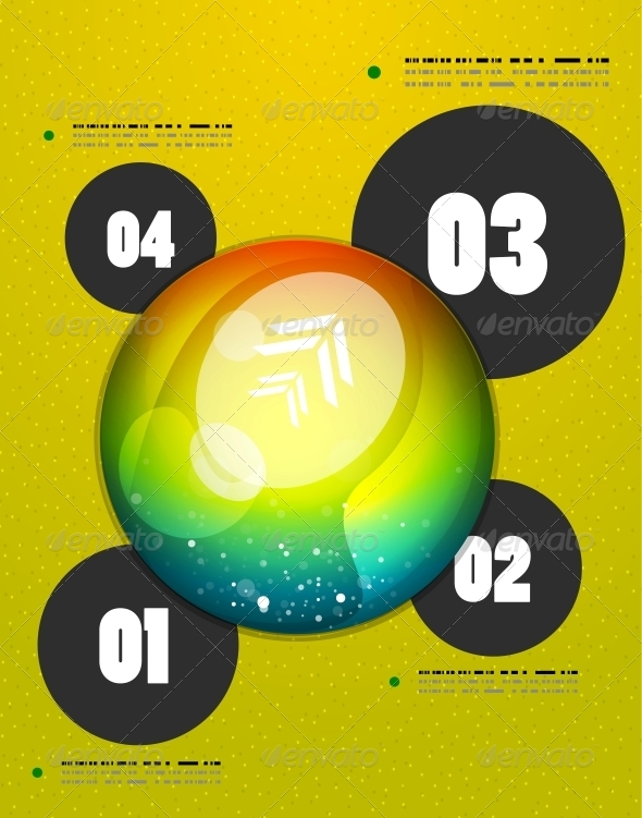 Abstract Steps Circles Template - Web Technology