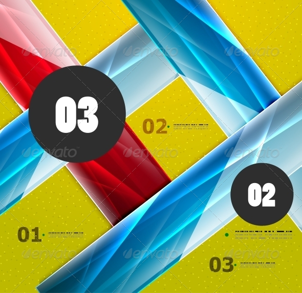 Modern Abstract Steps Lines Template - Web Technology