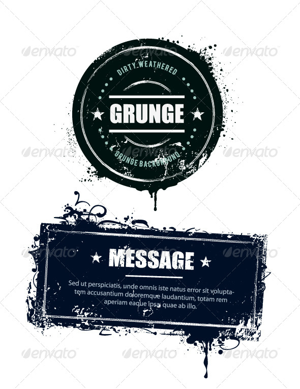 Grunge Dirty Banners - Vectors