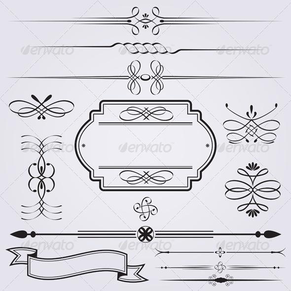Caligraphy Elements - Decorative Symbols Decorative