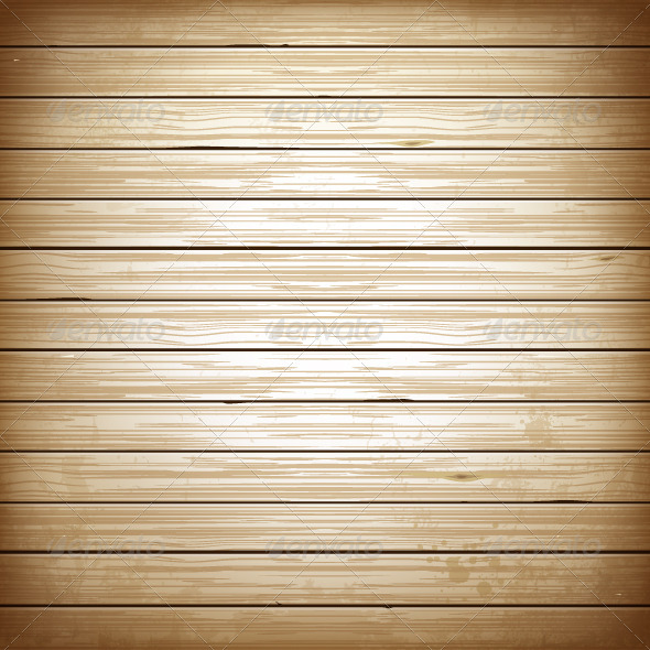 Wooden Plank Background - Vectors