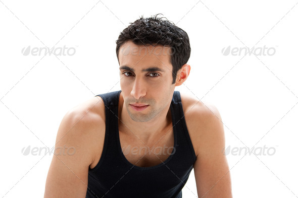 Handsome guy face - Stock Photo - Images