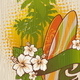 Tropical Surf Emblem Painting on a Wood Board - GraphicRiver Item for Sale