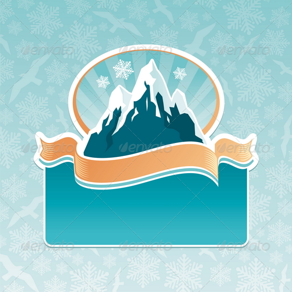 Mountains Landmark Emblem - Nature Conceptual