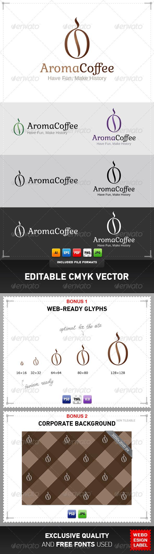 Aroma Coffee Logo - Food Logo Templates