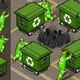 Isometric Set of Garbage Men in Four Positions - GraphicRiver Item for Sale