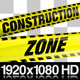 Yellow Construction Zone Boundry Tape - 5 Videos - VideoHive Item for Sale