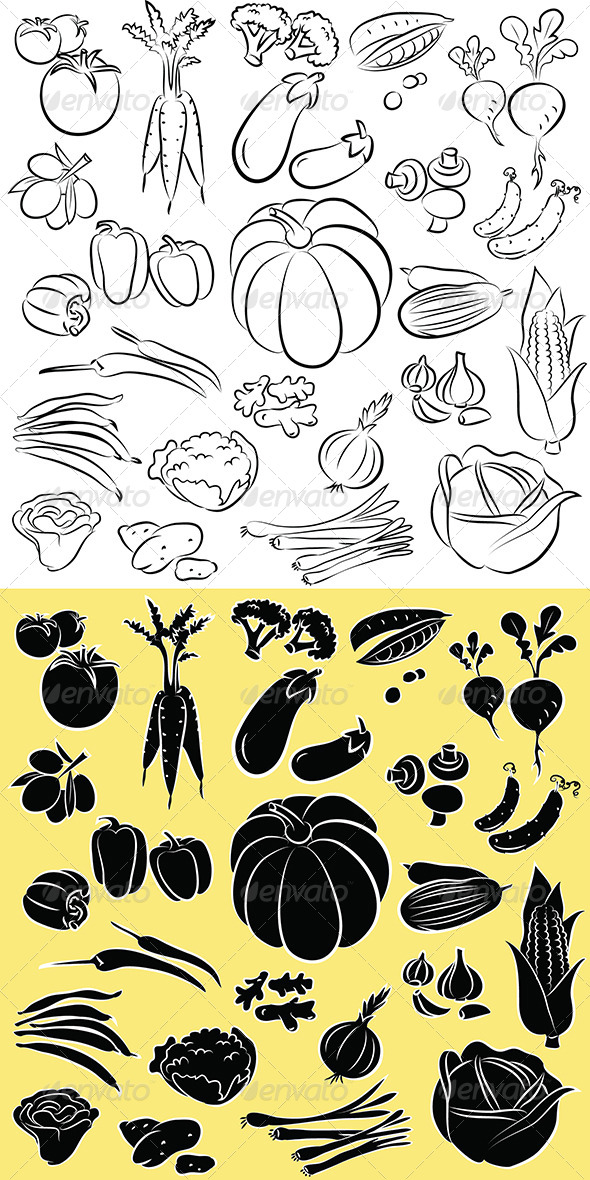 Vegetables Vector - Food Objects