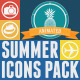 Summer Animated Icons Pack - VideoHive Item for Sale