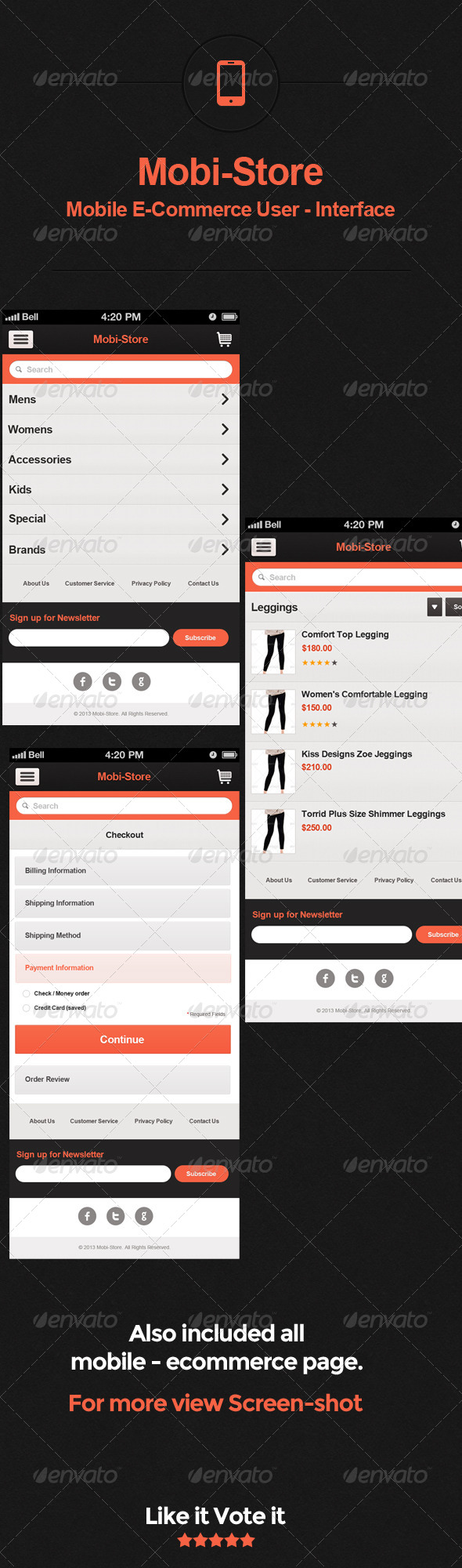 Mobi-store:Mobile E-Commerce User - Interface - User Interfaces Web Elements