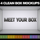4 Clean Box MockUps - GraphicRiver Item for Sale