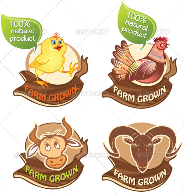 Farm Animals Banners - Animals Characters