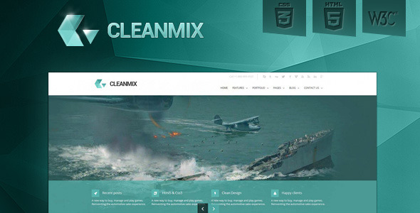 CleanMix -HTML5, CSS3, Corporate Template