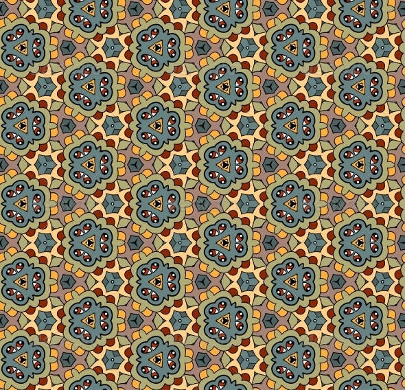 Ornate Seamless Vector Pattern - Backgrounds Decorative