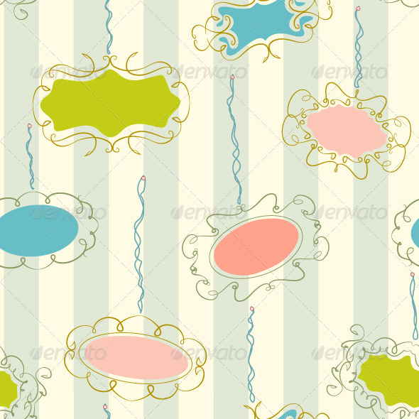 Photo Frames Seamless Pattern - Backgrounds Decorative