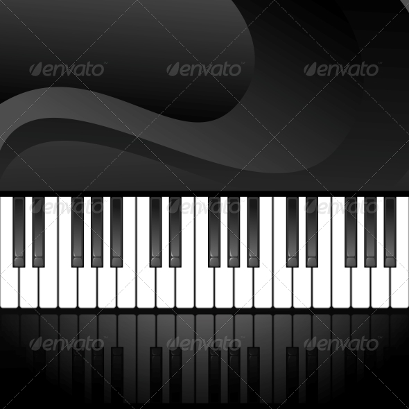 Abstract Background with Piano Keys - Media Technology