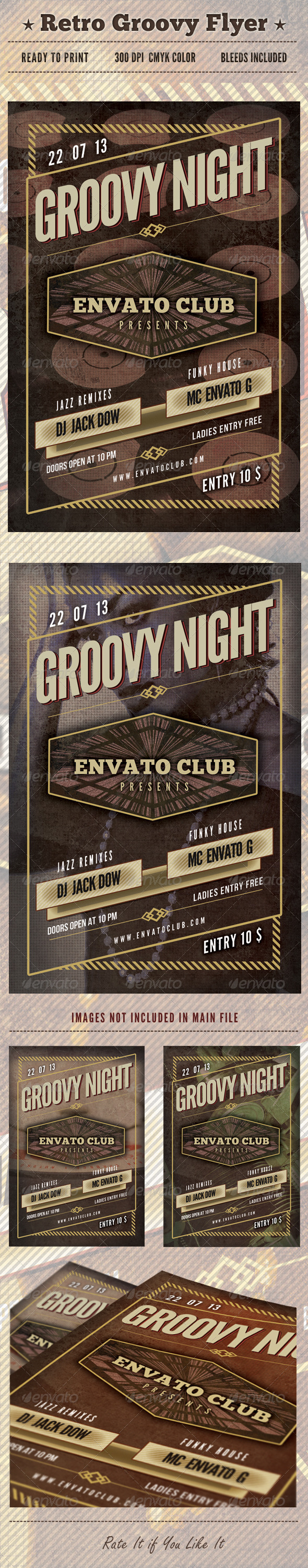 Retro Groovy Flyer - Clubs & Parties Events
