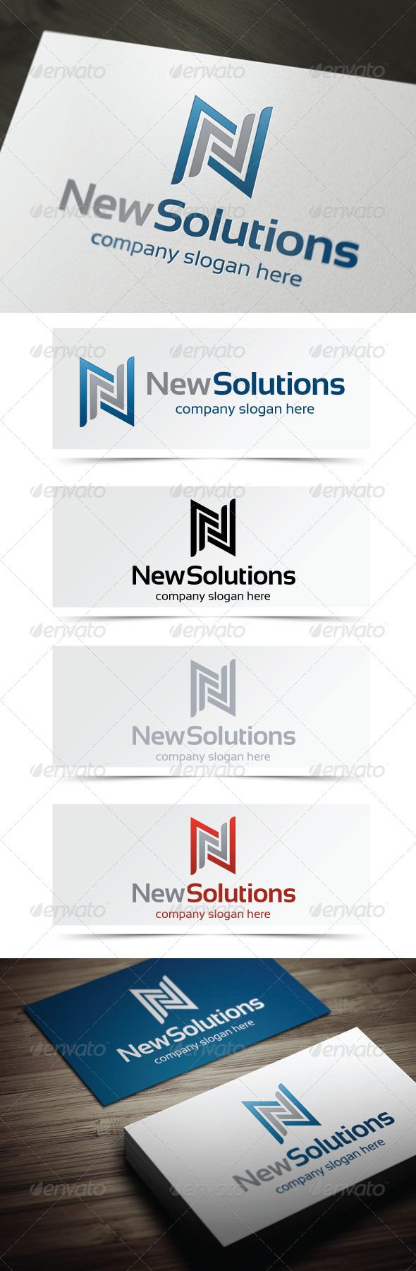 New Solutions - Letters Logo Templates