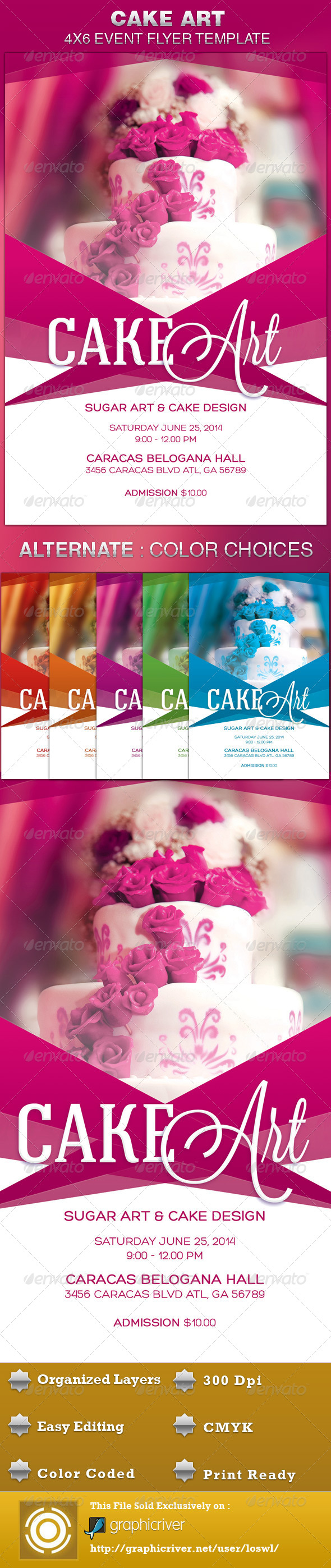 Cake Art Event Flyer Template - Events Flyers