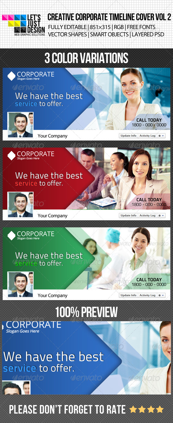 Creative Corporate Facebook Timeline Cover Vol 2 - Facebook Timeline Covers Social Media