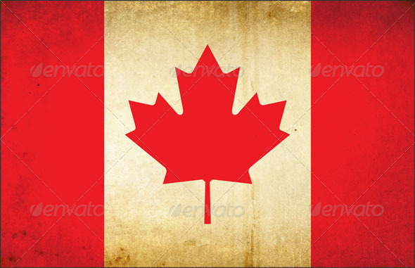 Grunge Dirty Canada Flag - Vectors