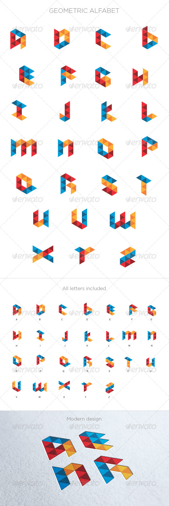 Geometric Alphabet - Vectors