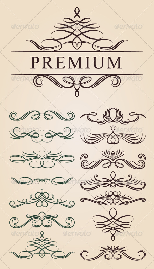 Calligraphic Decoration Design - Borders Decorative