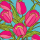 Vector Seamless Pattern with T²ulips - GraphicRiver Item for Sale