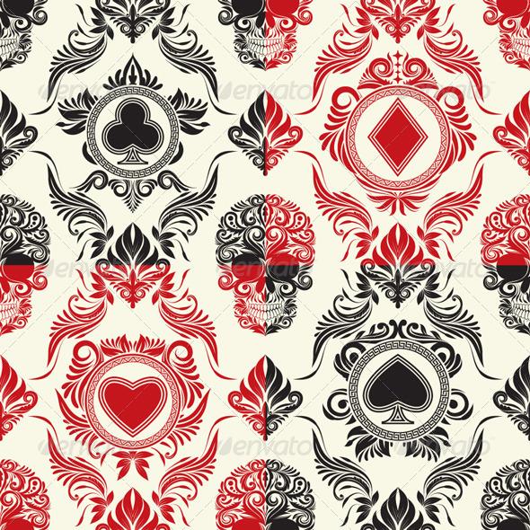 Playing Card Pattern Set - Patterns Decorative