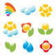 Garden and Weather Icon Set - GraphicRiver Item for Sale