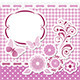 Floral Scrapbook Pink Set - GraphicRiver Item for Sale