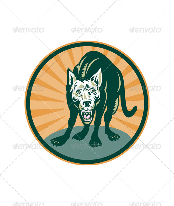 Wild Dog Wolf Retro - Animals Characters