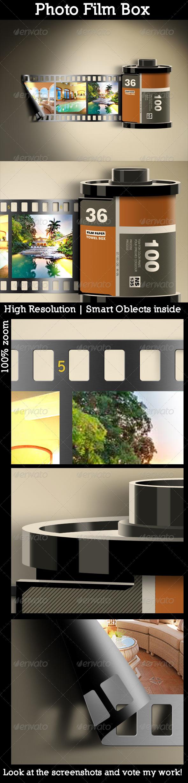 Photo Film Box - Miscellaneous Photo Templates