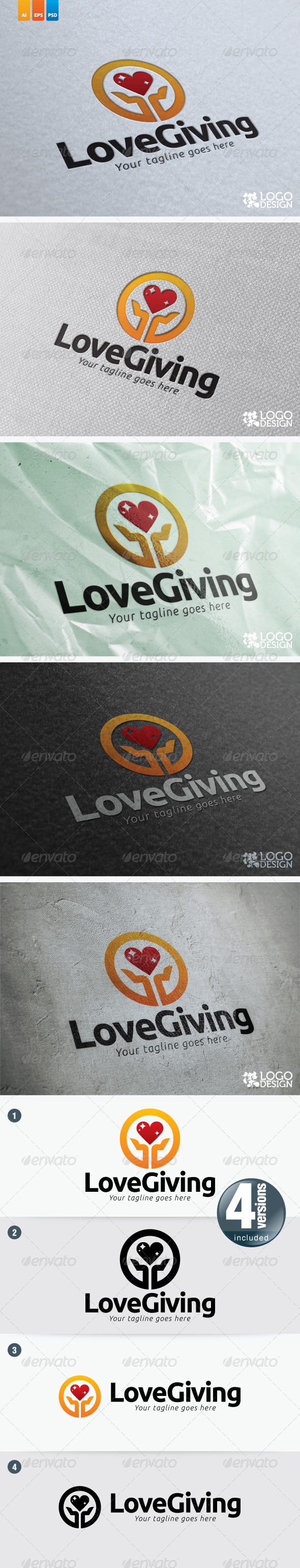 Love Giving - Symbols Logo Templates