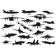 Military Aircrafts Set - GraphicRiver Item for Sale