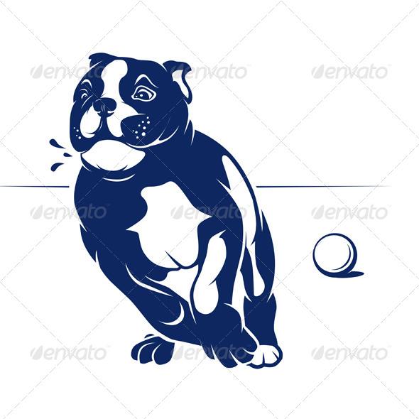 Running Dog - Animals Characters