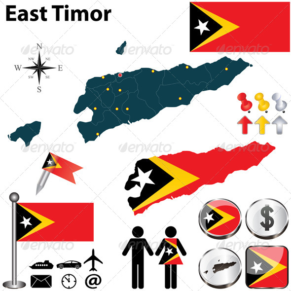 Map of East Timor - Travel Conceptual