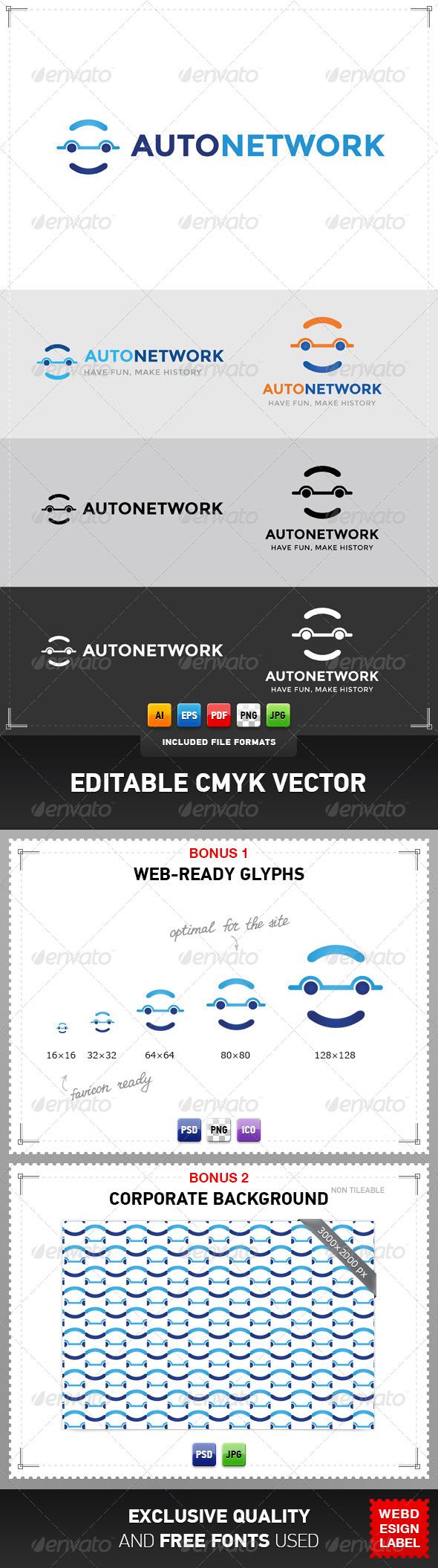Auto Network Logo - Symbols Logo Templates