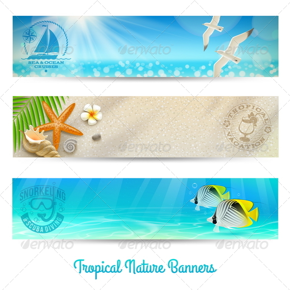 Travel and Vacation Vector Banners - Travel Conceptual