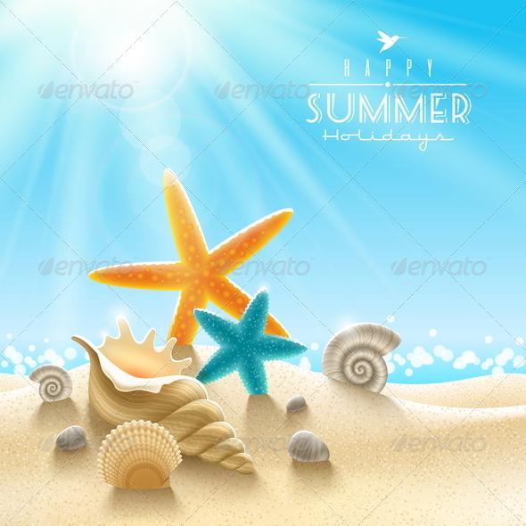 Summer Holidays Illustration - Nature Conceptual