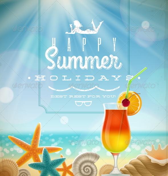 Summer Holidays Illustration - Travel Conceptual