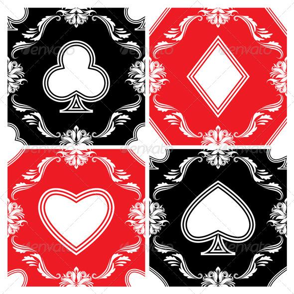 Playing Card Ornamental Pattern - Patterns Decorative