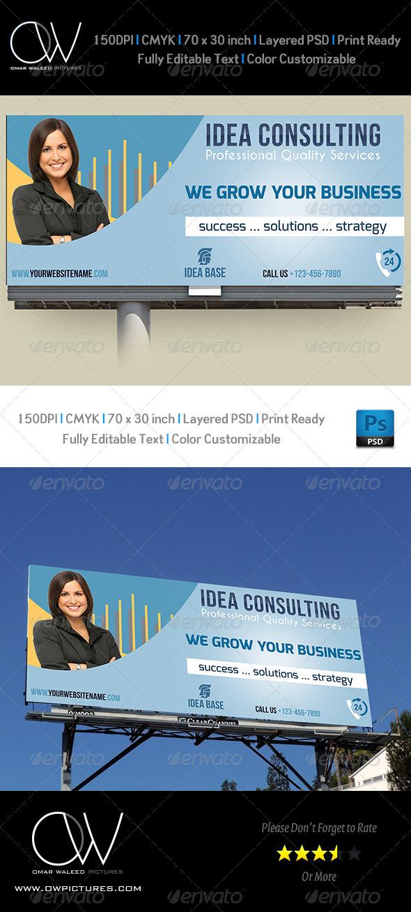 Corporate Business Billboard Template Vol.2 - Signage Print Templates