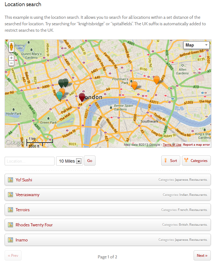 Map List Pro Google Maps Location directories by smartredfox