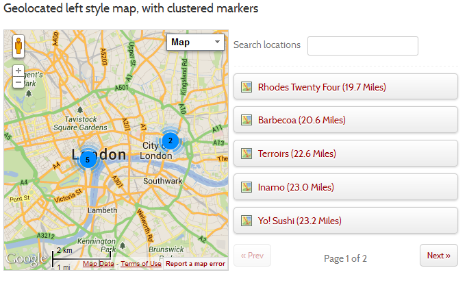 Map List Pro - Google Maps & Location directories